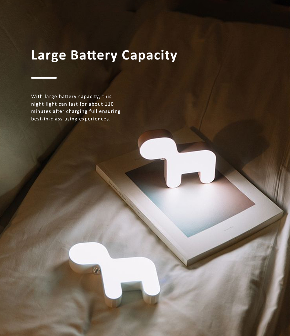 Cute Delicate Dog Bedroom Bedside Night Light Large Capacity Energy-saving LED Baby Comfort Lamp 2
