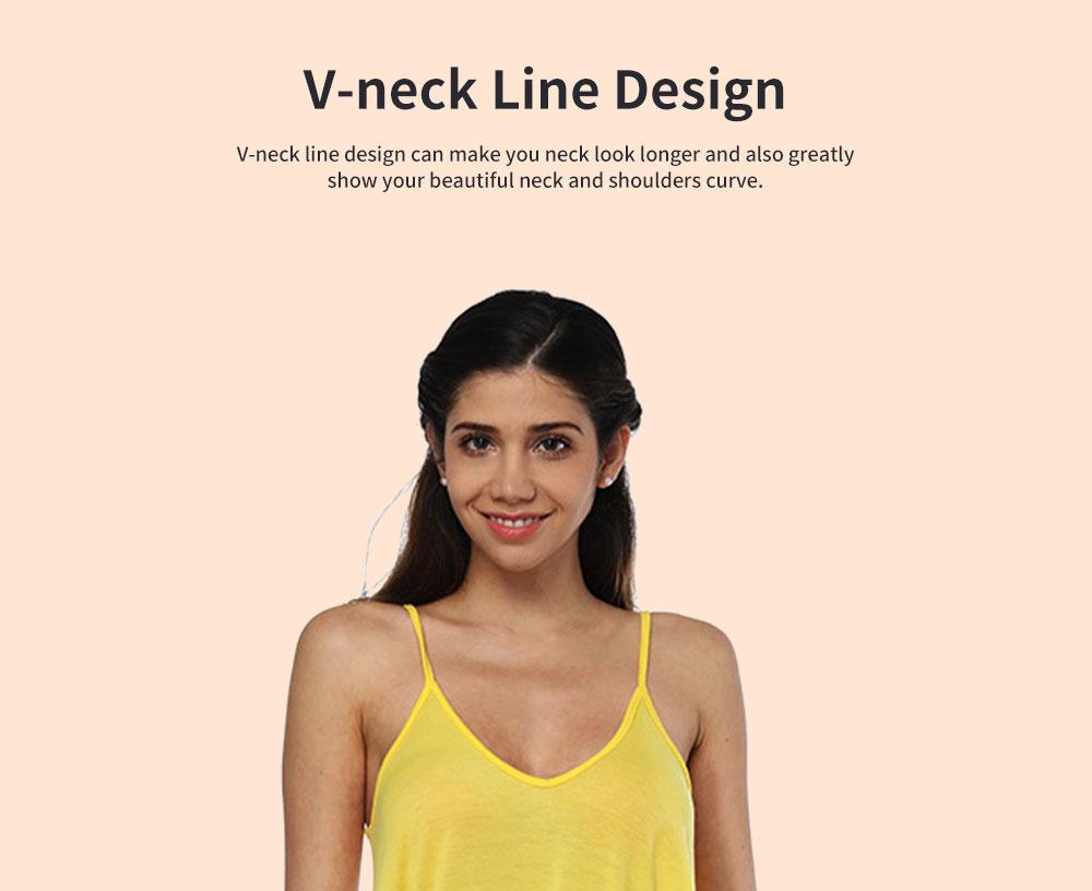 Sexy Fancy V-neck Line Women Braces Dress Summer Vacation Beach Irregular Loose Low-cut Long Dress 2