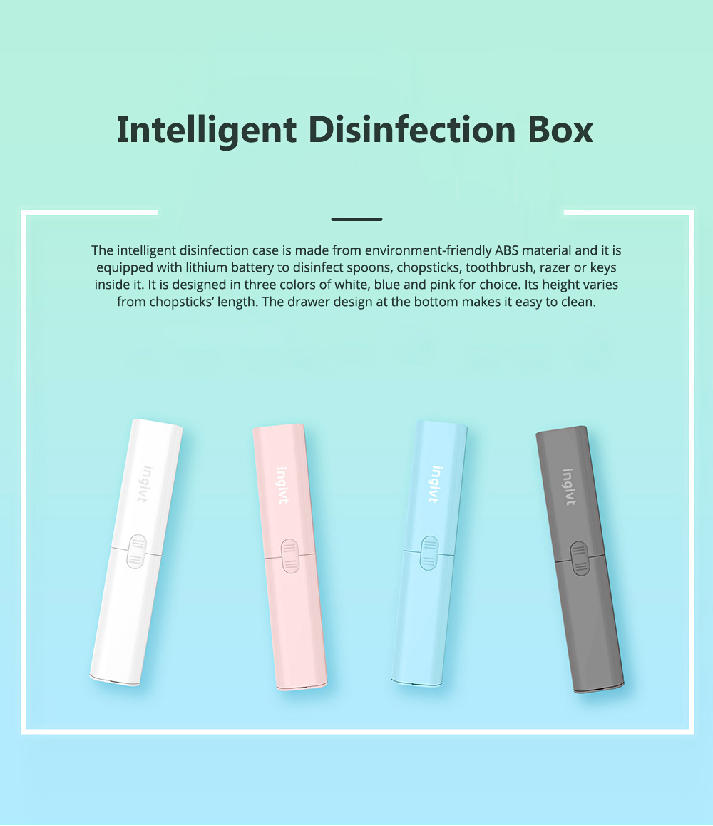 Intelligent Disinfection Box for Office Business Trip Dinning Food Grade Ultraviolet Sterilizer Mini USB Disinfection Portable Ozone Sterilization Cutlery Disinfecting Case 0