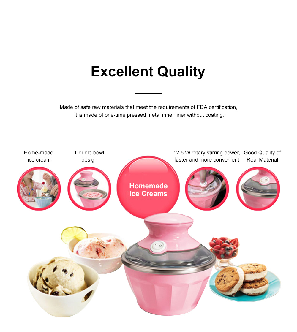 Double Bowl Soft Ice Cream Machine Home Fully Automated Ice Cream Maker Ice-cream Machine 1