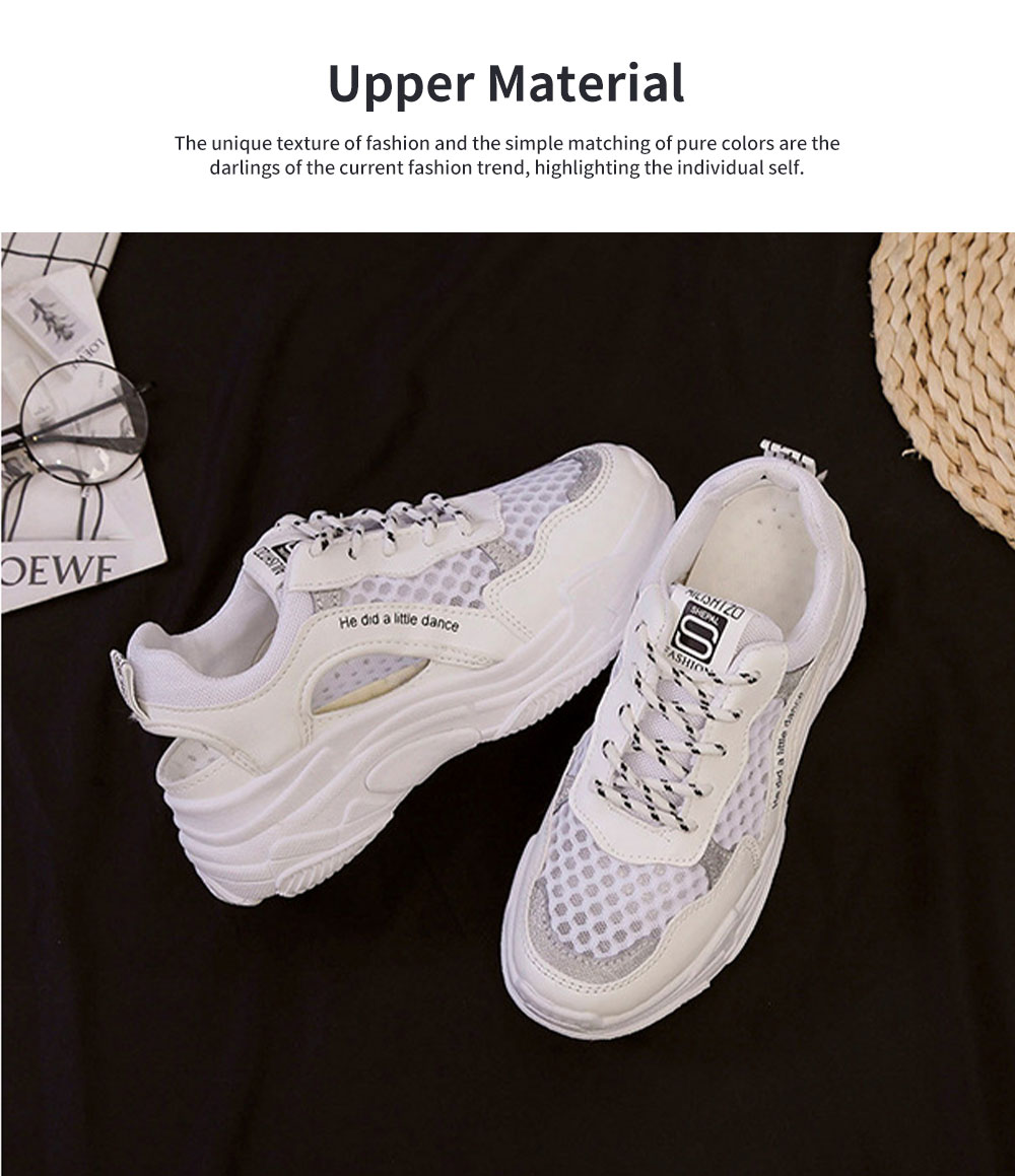 Ladies' Hollow-out Sports Shoes, Lady Breathable Cave Daddy Shoes and Net Shoes Summer 2020 1