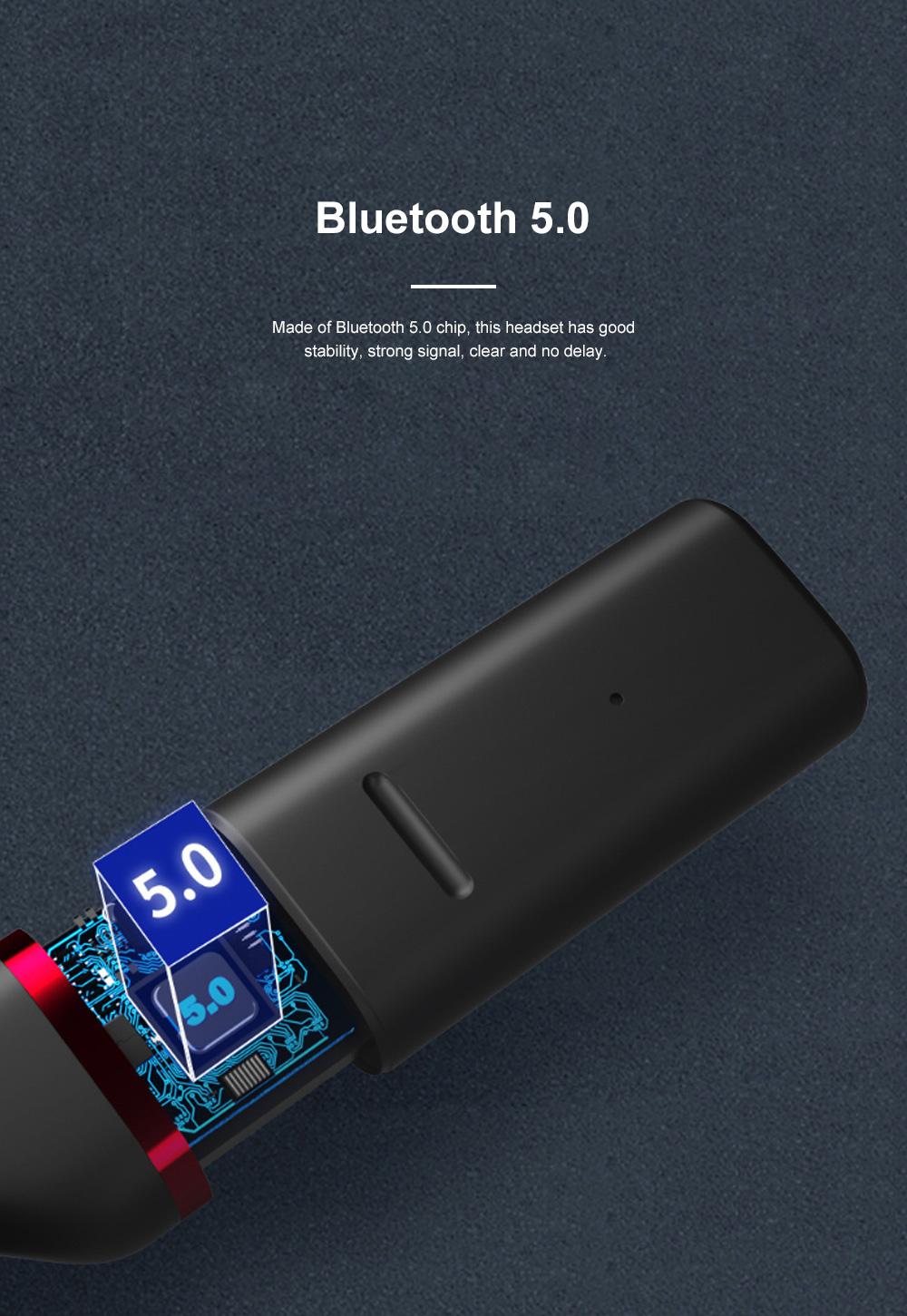 New Earhook TWS Bluetooth Headset Wireless 5.0 Ear-mounted Touch Headset Sport Earphone 5
