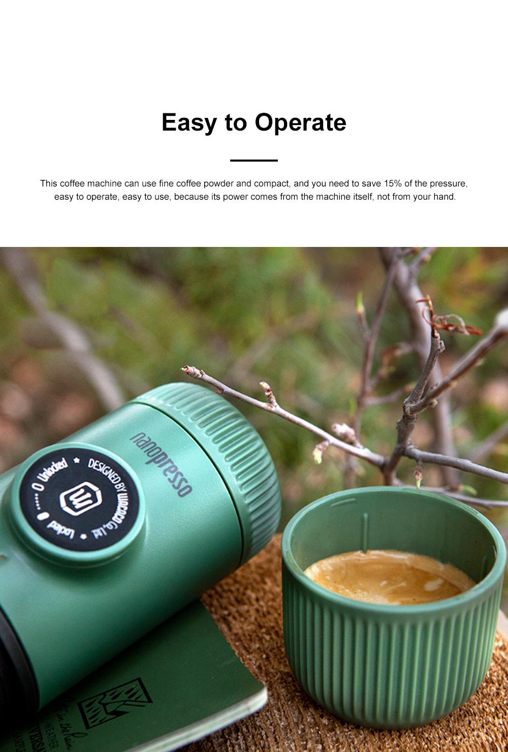 Nanopresso GR Portable Manual Coffee Machine Set Outdoor Dual-purpose Manual Espresso Machine 3