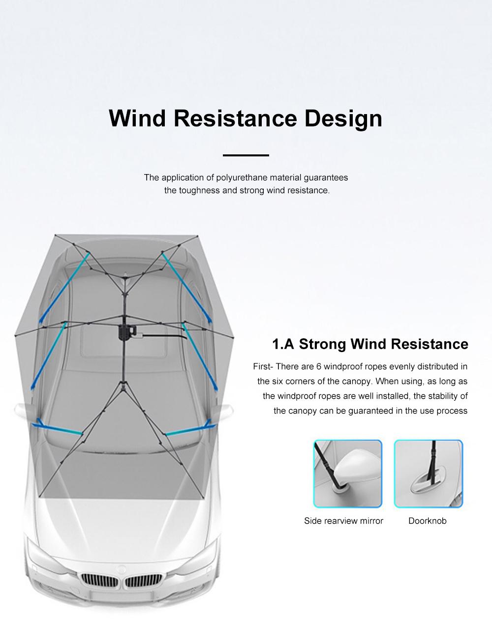 4.5m Car Umbrella Sunshade Sun Heat-proof Lightweight Car Parasol Anti-theft Car Umbrella with Remote Control Function 2