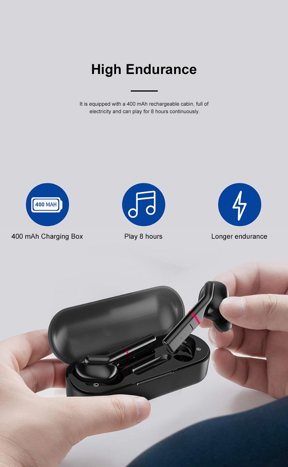 New Earhook TWS Bluetooth Headset Wireless 5.0 Ear-mounted Touch Headset Sport Earphone 4