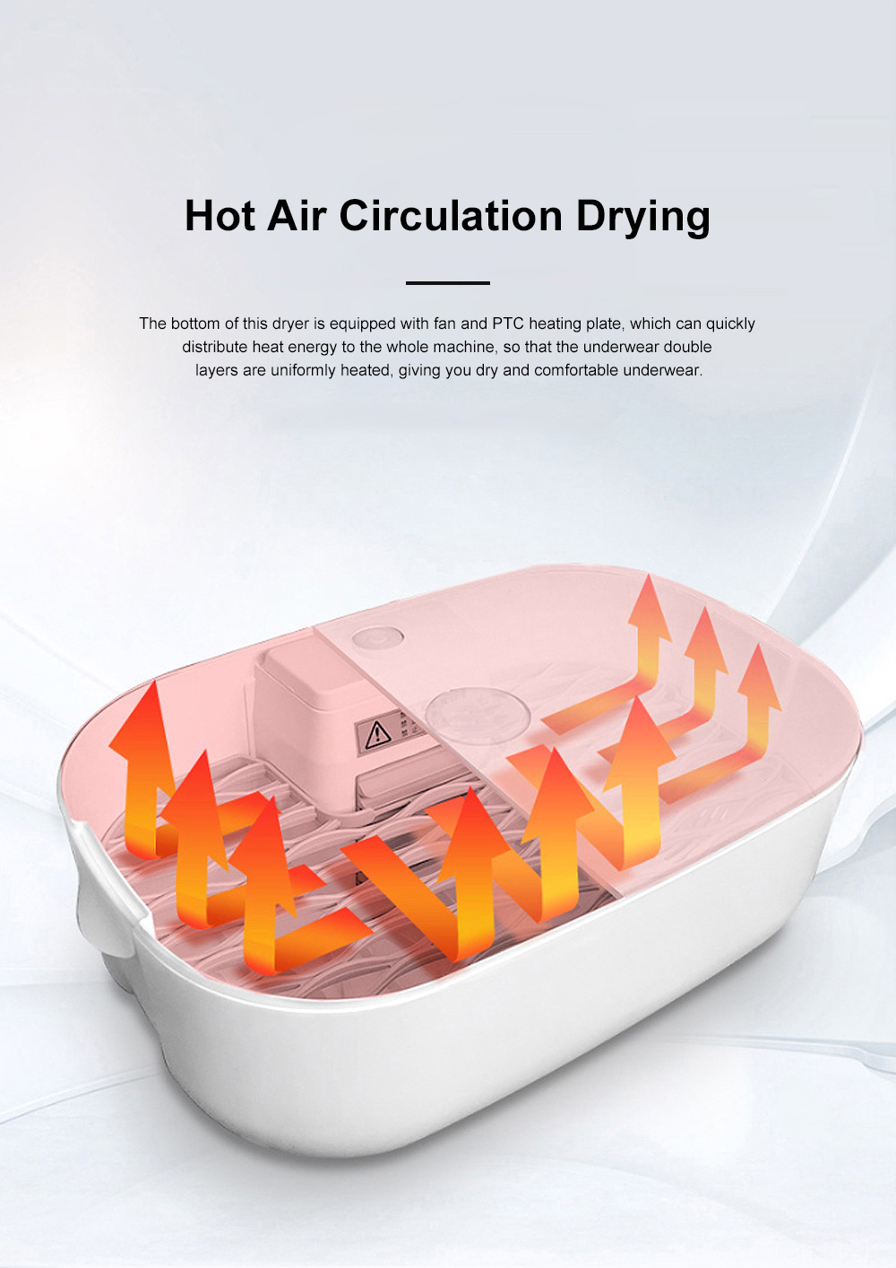 Mini Dry Box Underwear Disinfector Portable Clothes Box Travel Mini-dryer Underpants Disinfector 2