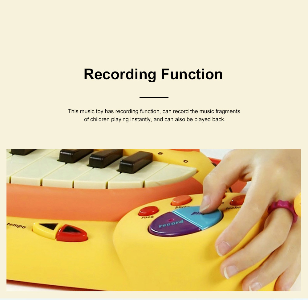 B.TOY Big Mouth Cat Piano Cartoon Early Teach Smart Electronic Piano for Infants and Young Children Music Toys 4