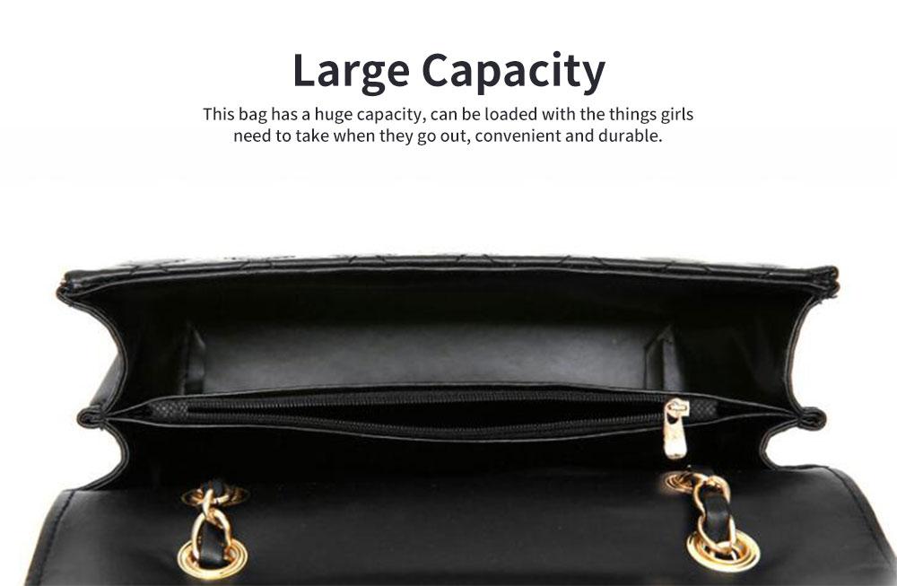 Fashion Small Fragrance PU Rhombic Chain Bag Women's Fashion Shoulder Bag 4