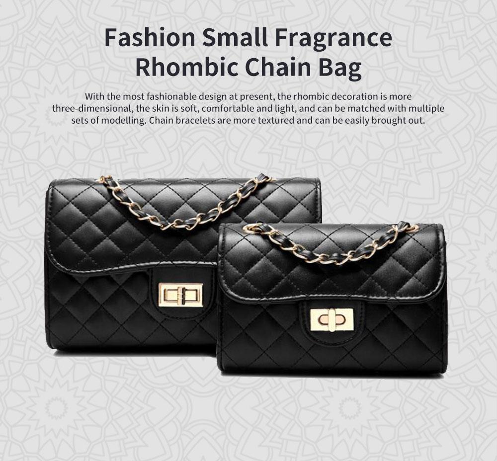 Fashion Small Fragrance PU Rhombic Chain Bag Women's Fashion Shoulder Bag 0