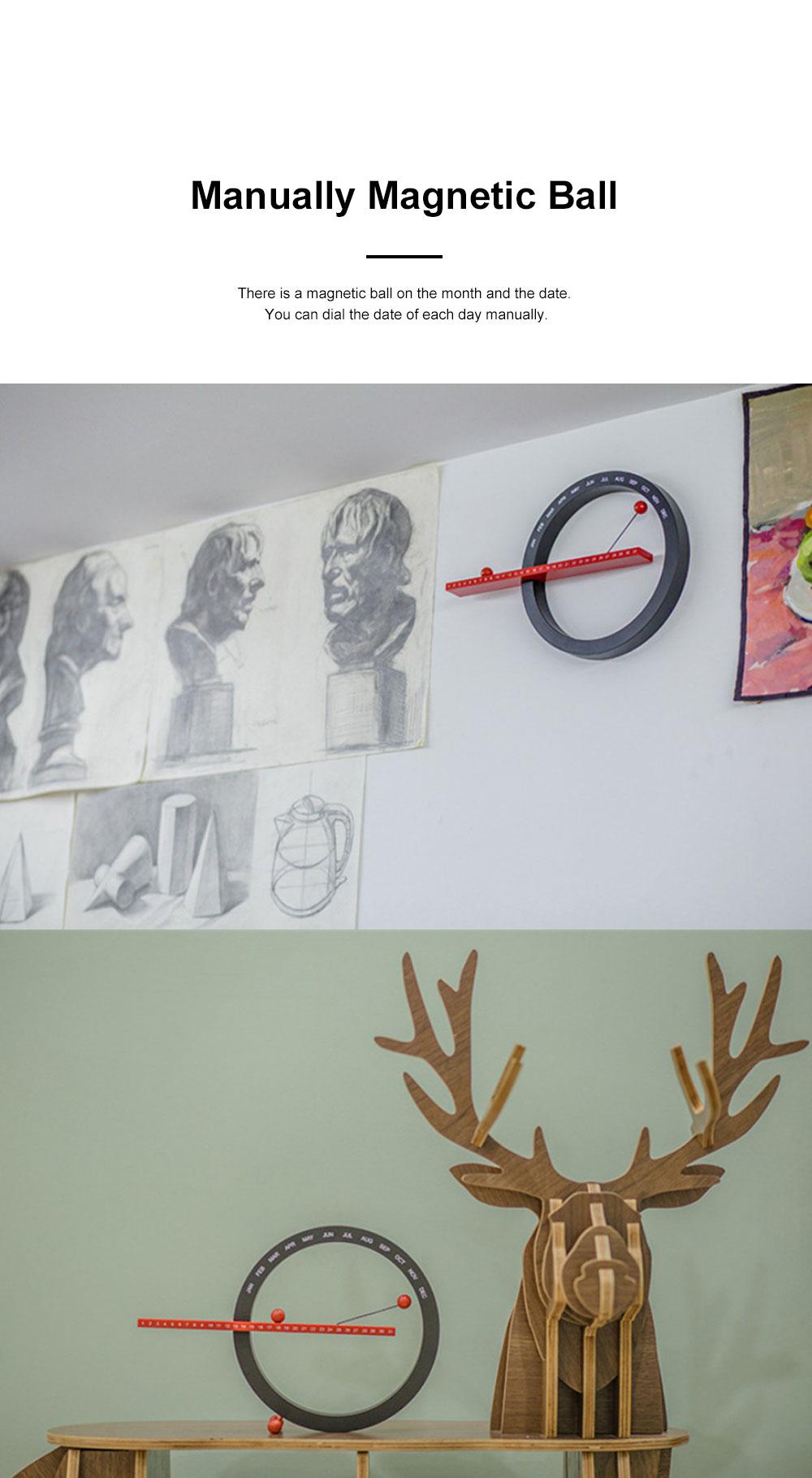 Manual Decoration Calendar, Creative Desk Calendar Hand Creative Wall Clock Best Festival Birthday Christmas Gift 2