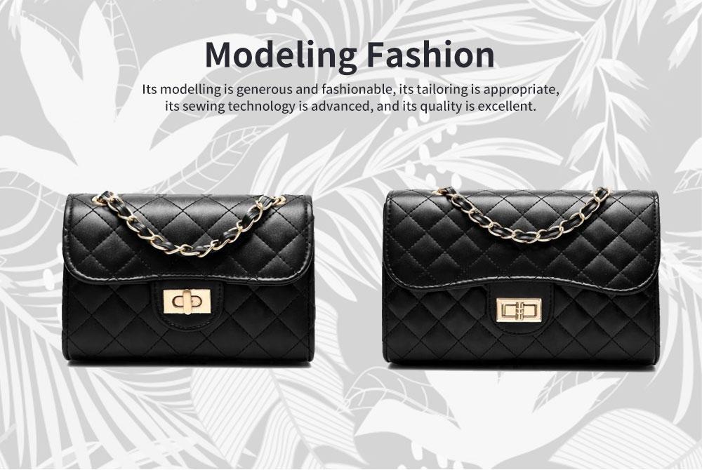 Fashion Small Fragrance PU Rhombic Chain Bag Women's Fashion Shoulder Bag 5