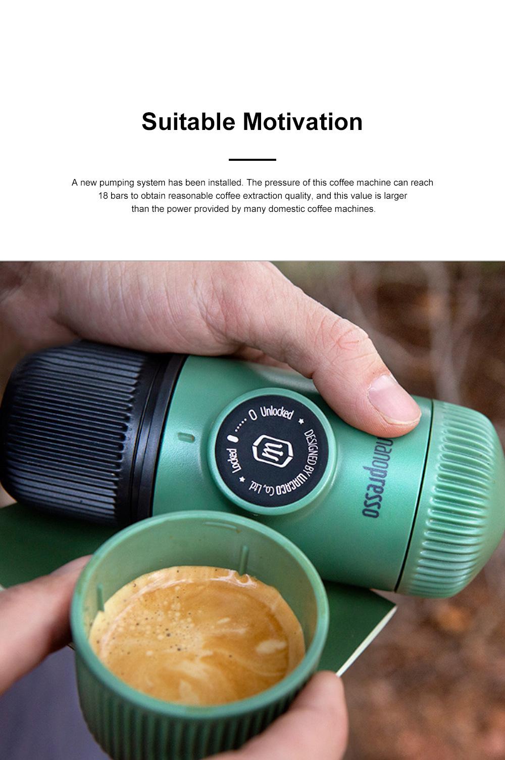 Nanopresso GR Portable Manual Coffee Machine Set Outdoor Dual-purpose Manual Espresso Machine 1