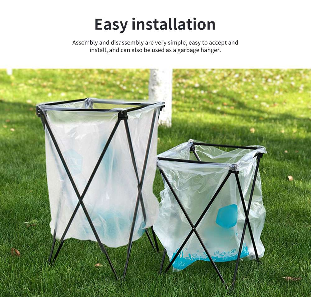 New Outdoor Receiving Basket, Multifunctional Receiving Barrel Dirty Clothes Baskets, Laundry Baskets Storage Bags Camping Garbage Hanging Rack 4