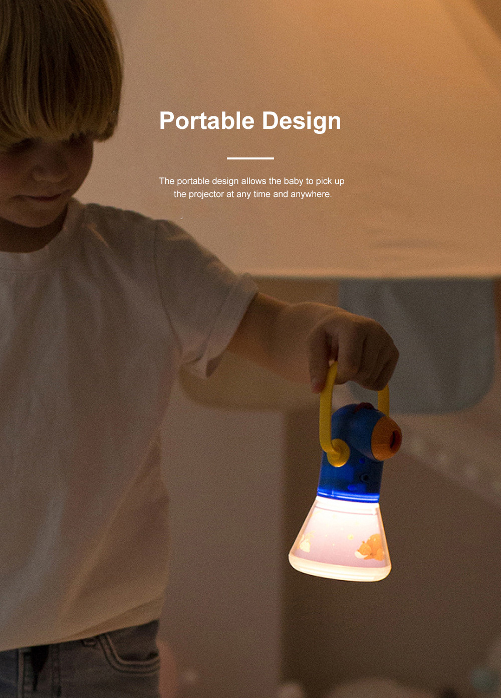 Multifunctional Storybook Torch Projector Light Baby's Early Education Toys Children's Bedtime Star Night Light Projection Lights With 8 Fairy Tale 2