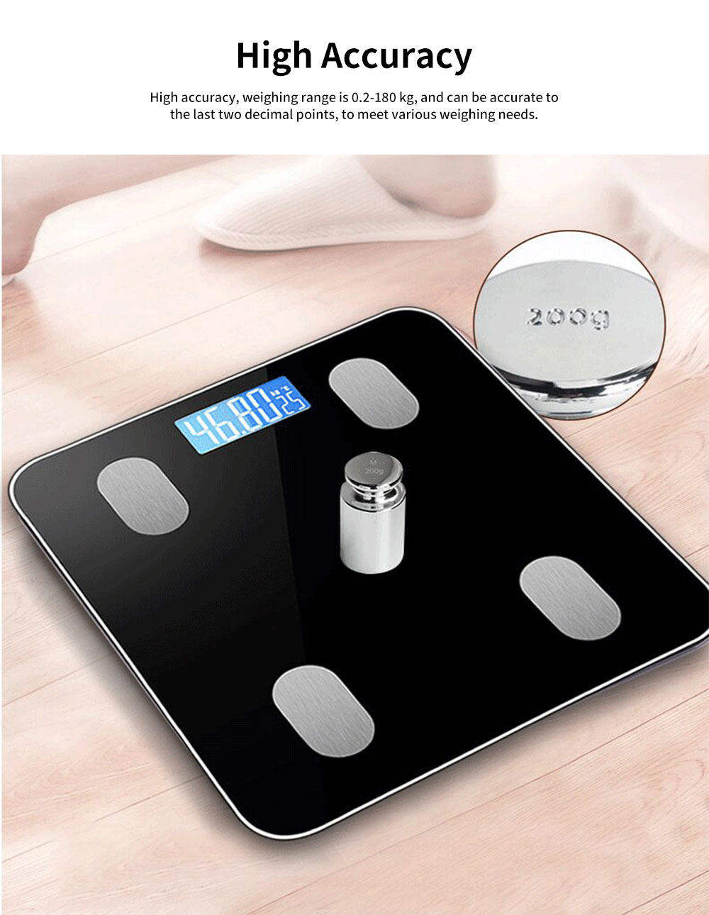 Adult Intelligent Bluetooth Body Fat Scale, Multifunctional Household Electronic Scale, High Precision Weight Scale 1