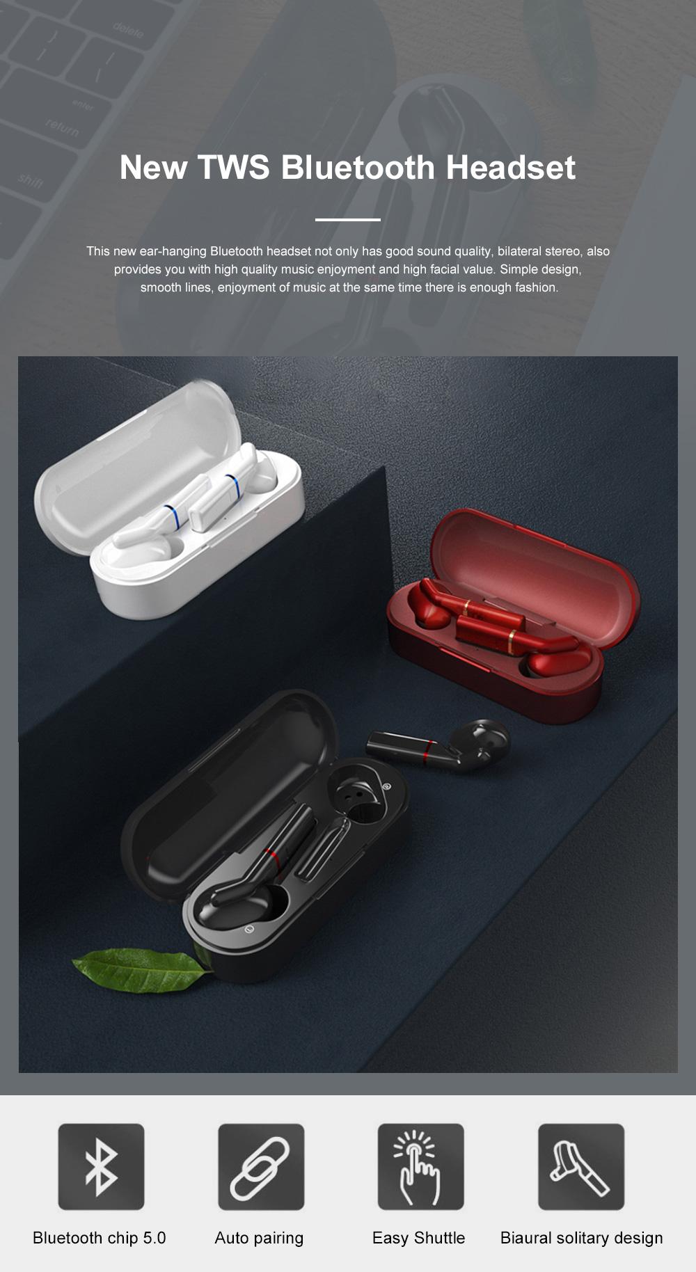 New Earhook TWS Bluetooth Headset Wireless 5.0 Ear-mounted Touch Headset Sport Earphone 0