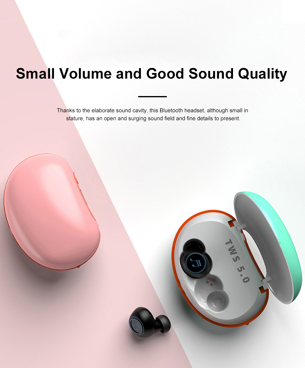 Macron X20S Bluetooth Headset Wireless Bluetooth 5.0 with Charging Treasure TWS Mobile Bluetooth Headset 1