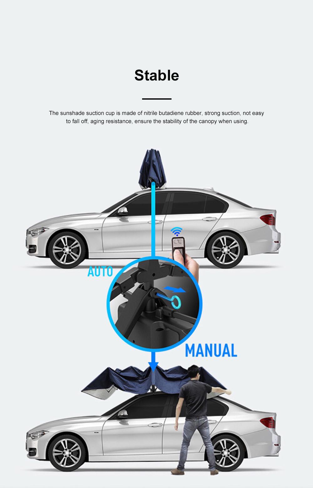 4.5m Car Umbrella Sunshade Sun Heat-proof Lightweight Car Parasol Anti-theft Car Umbrella with Remote Control Function 6