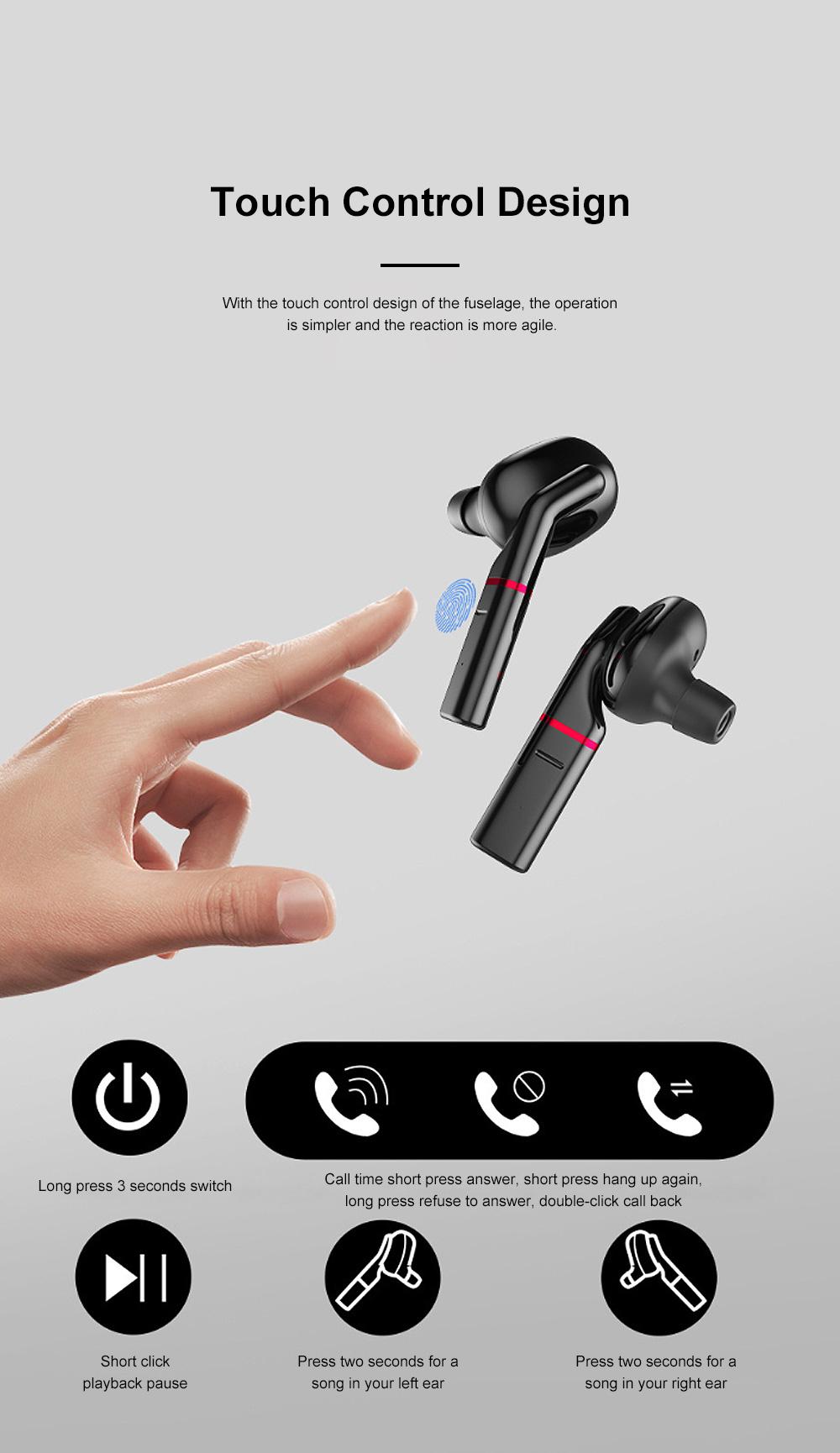New Earhook TWS Bluetooth Headset Wireless 5.0 Ear-mounted Touch Headset Sport Earphone 6