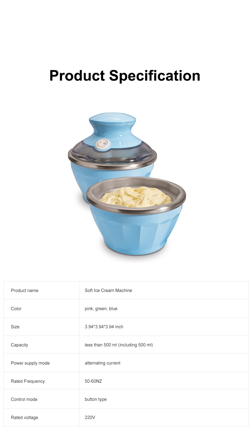 Double Bowl Soft Ice Cream Machine Home Fully Automated Ice Cream Maker Ice-cream Machine 9
