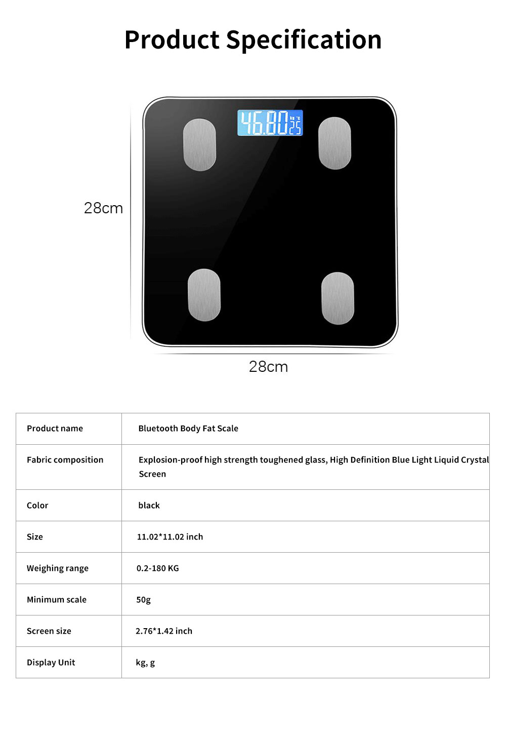 Adult Intelligent Bluetooth Body Fat Scale, Multifunctional Household Electronic Scale, High Precision Weight Scale 7