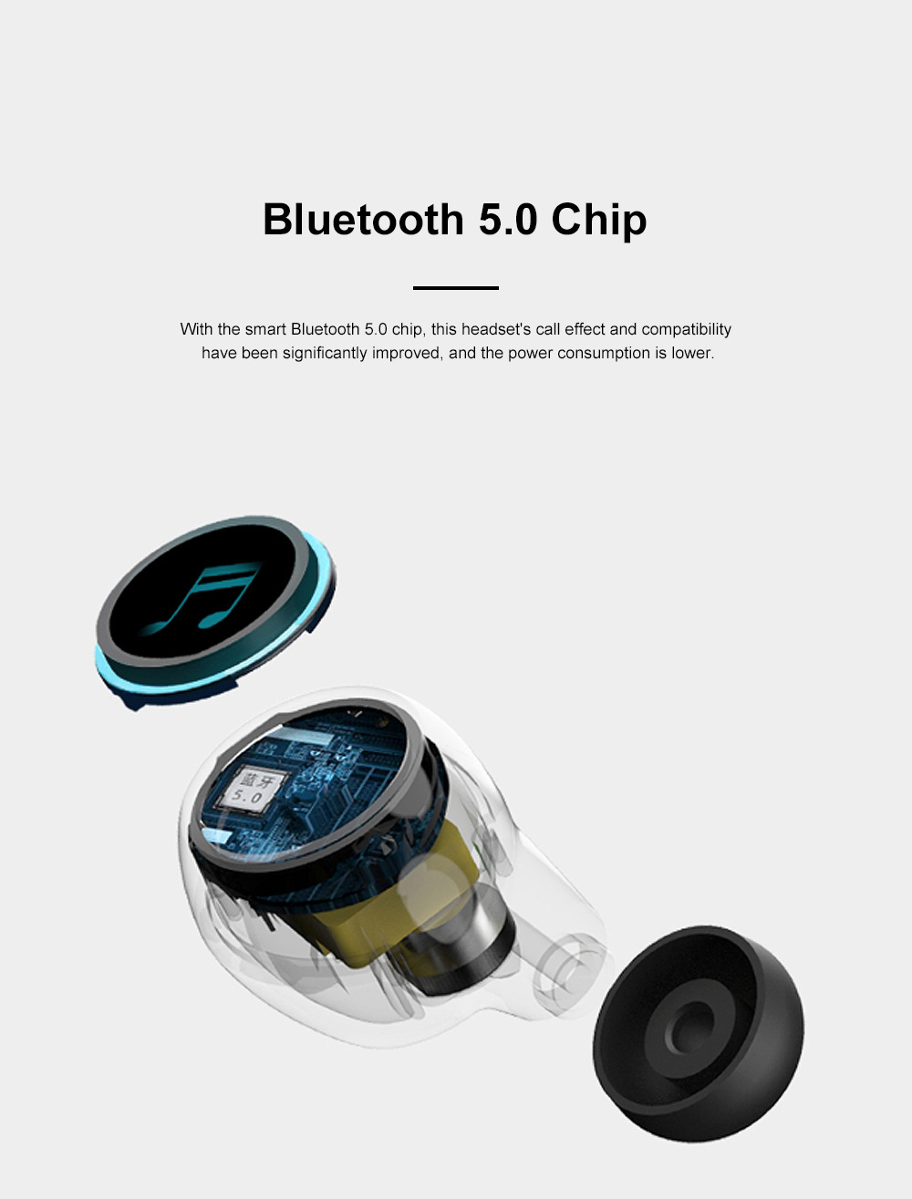 Macron X20S Bluetooth Headset Wireless Bluetooth 5.0 with Charging Treasure TWS Mobile Bluetooth Headset 3