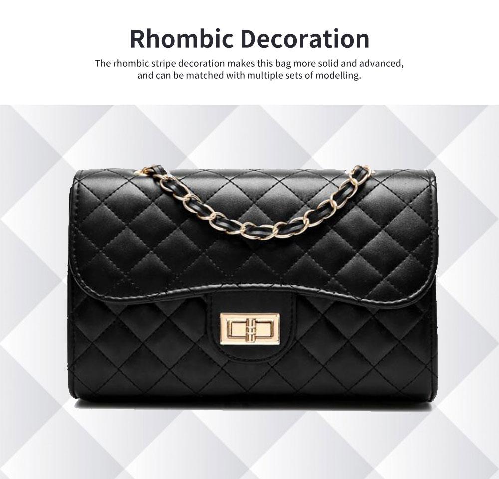 Fashion Small Fragrance PU Rhombic Chain Bag Women's Fashion Shoulder Bag 1