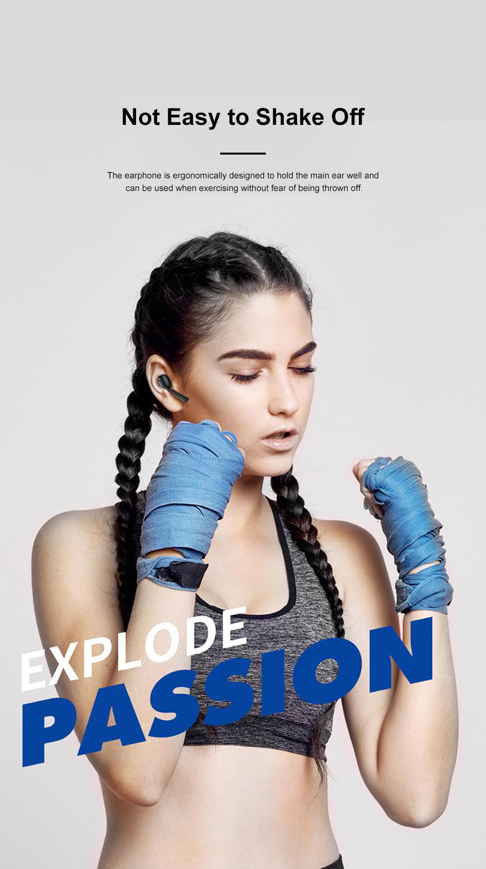New Earhook TWS Bluetooth Headset Wireless 5.0 Ear-mounted Touch Headset Sport Earphone 2