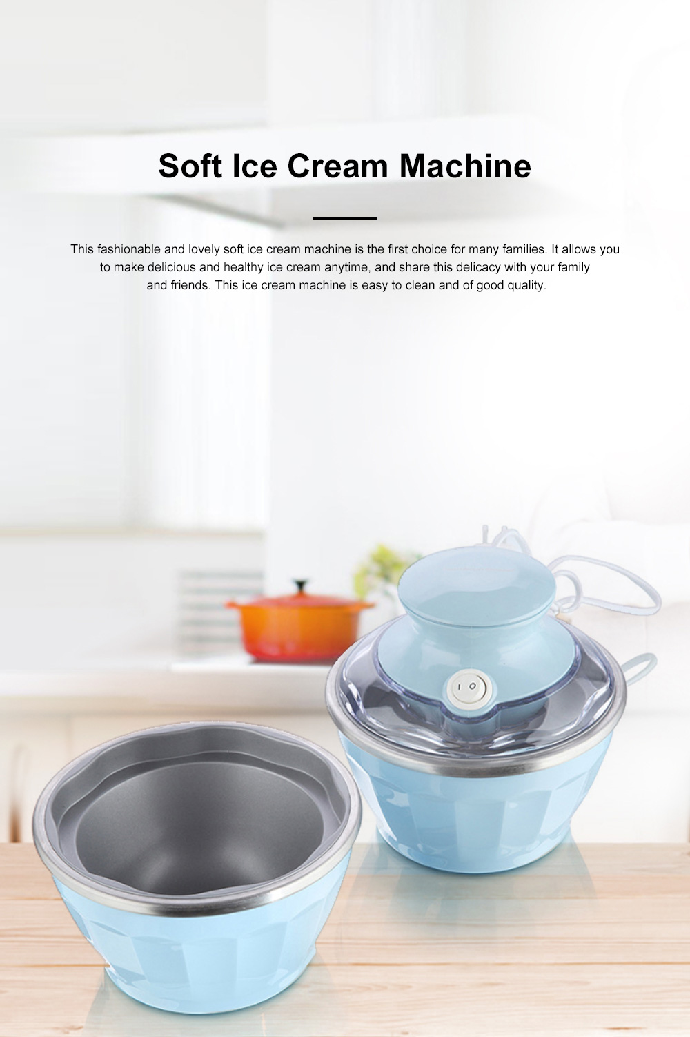 Double Bowl Soft Ice Cream Machine Home Fully Automated Ice Cream Maker Ice-cream Machine 0