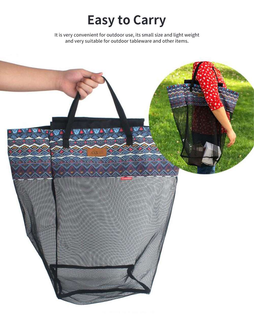 New Outdoor Receiving Basket, Multifunctional Receiving Barrel Dirty Clothes Baskets, Laundry Baskets Storage Bags Camping Garbage Hanging Rack 1