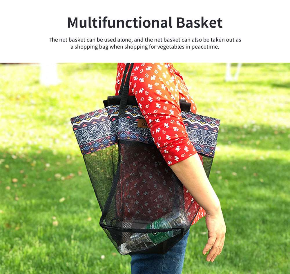 New Outdoor Receiving Basket, Multifunctional Receiving Barrel Dirty Clothes Baskets, Laundry Baskets Storage Bags Camping Garbage Hanging Rack 3