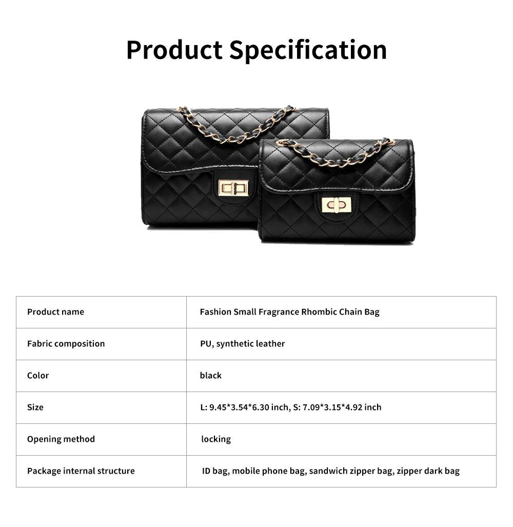 Fashion Small Fragrance PU Rhombic Chain Bag Women's Fashion Shoulder Bag 6