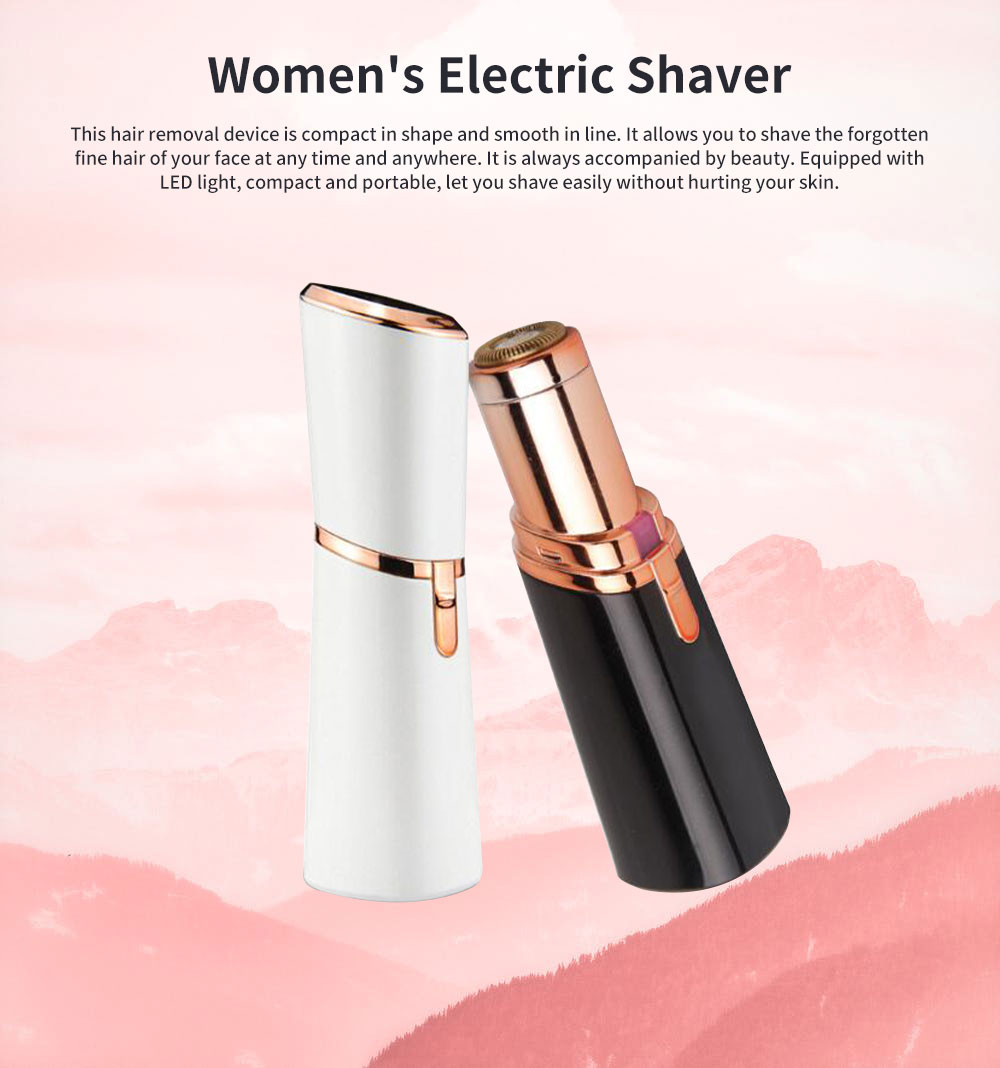 Women's Electric Shaver Set, Beauty Tool Hair Remover, Portable Lipstick Shape Shaver Machine For Lady Girl 0