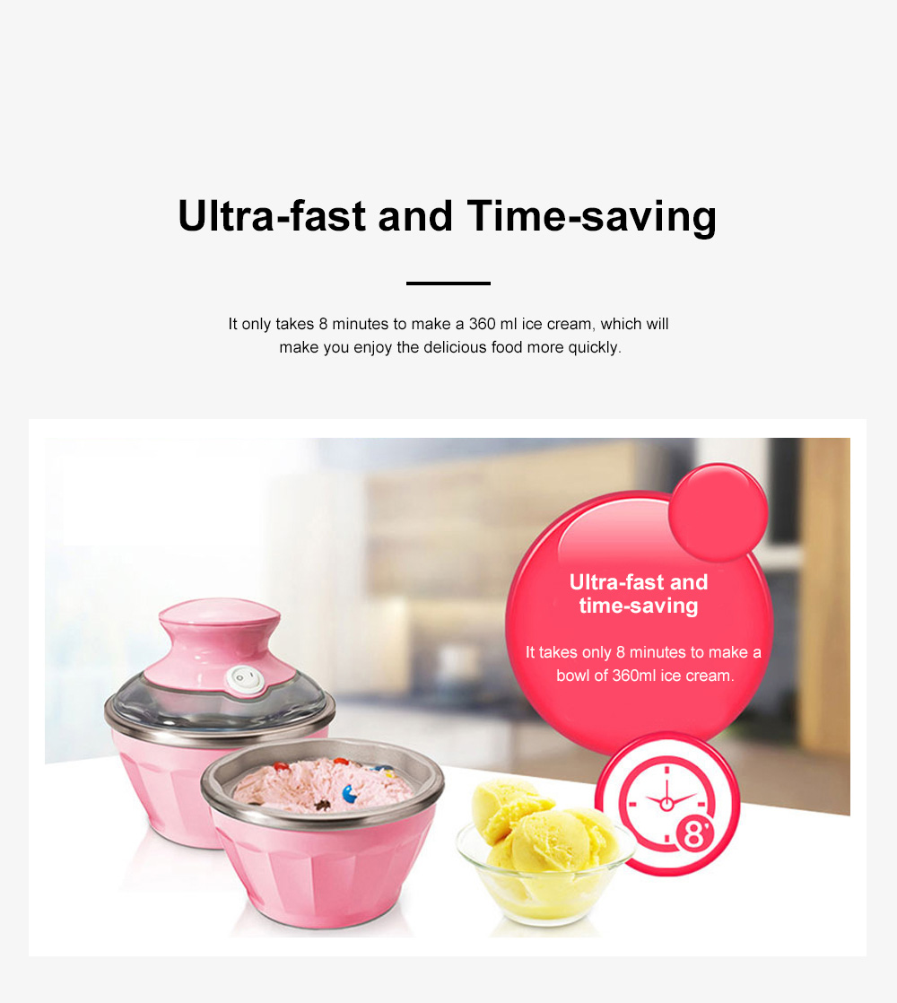 Double Bowl Soft Ice Cream Machine Home Fully Automated Ice Cream Maker Ice-cream Machine 8