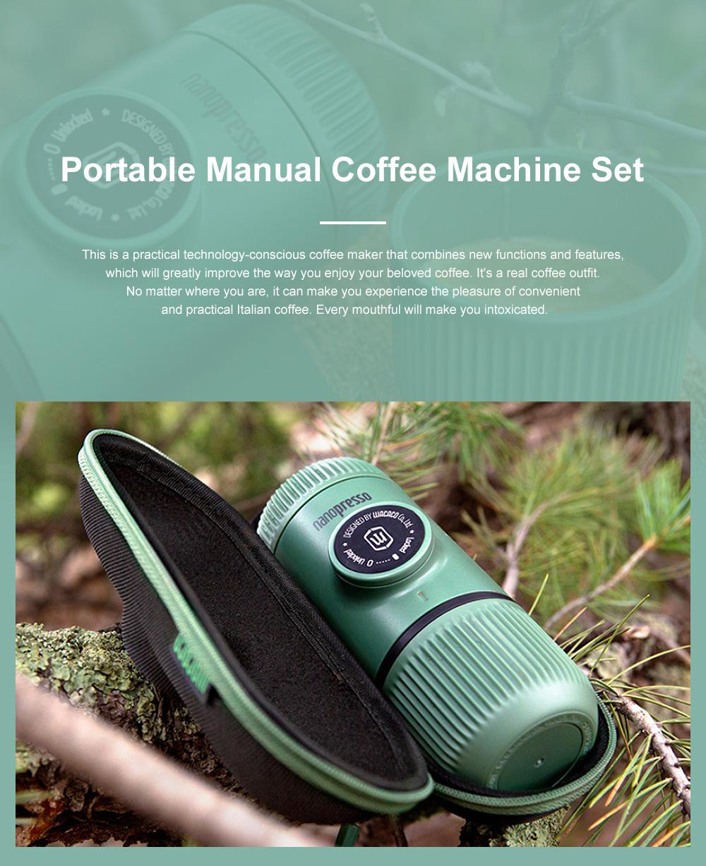 Nanopresso GR Portable Manual Coffee Machine Set Outdoor Dual-purpose Manual Espresso Machine 0