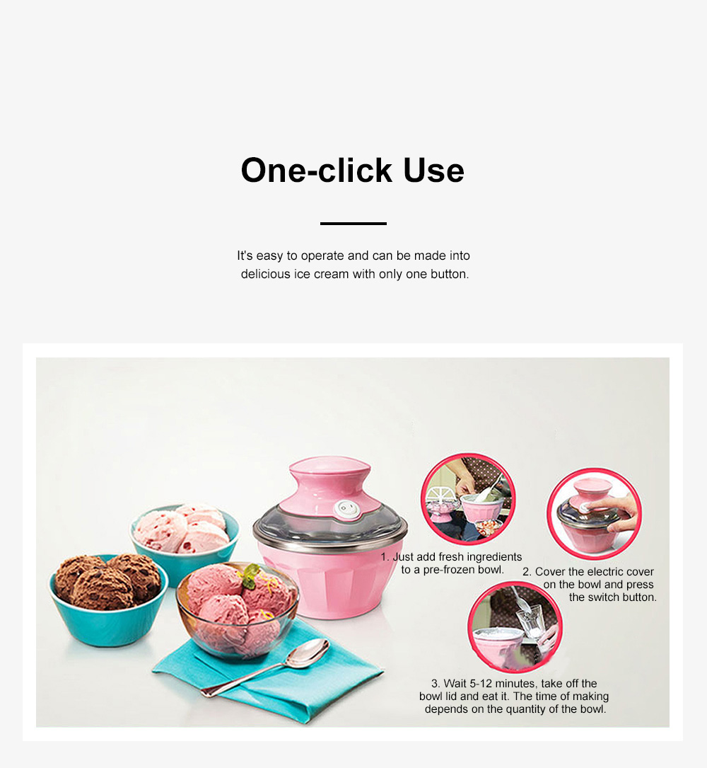 Double Bowl Soft Ice Cream Machine Home Fully Automated Ice Cream Maker Ice-cream Machine 2