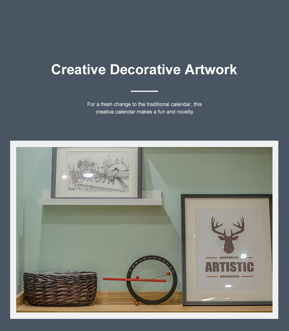 Manual Decoration Calendar, Creative Desk Calendar Hand Creative Wall Clock Best Festival Birthday Christmas Gift 5