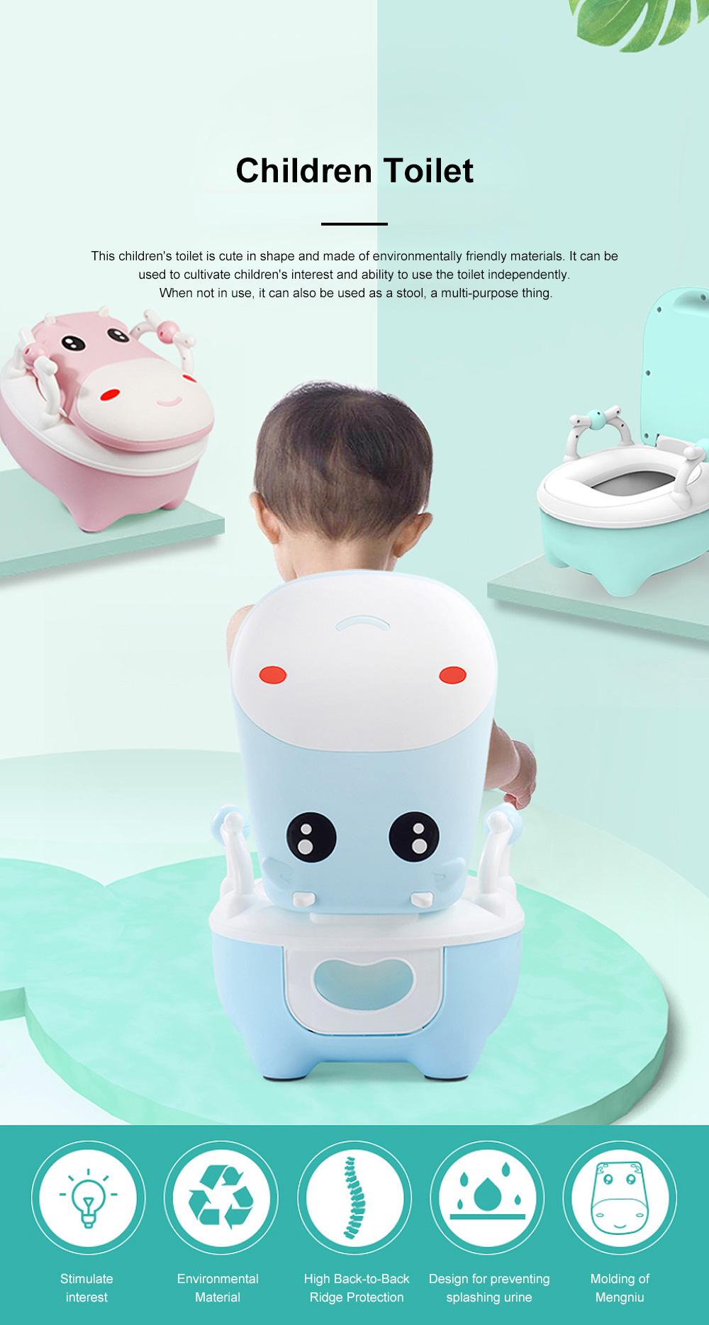 Union Cow Children Toilet Seat Baby Toilet Urinal Anti-fall Large Toilet for Boy Girl 0