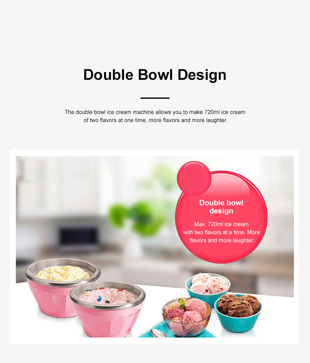 Double Bowl Soft Ice Cream Machine Home Fully Automated Ice Cream Maker Ice-cream Machine 4