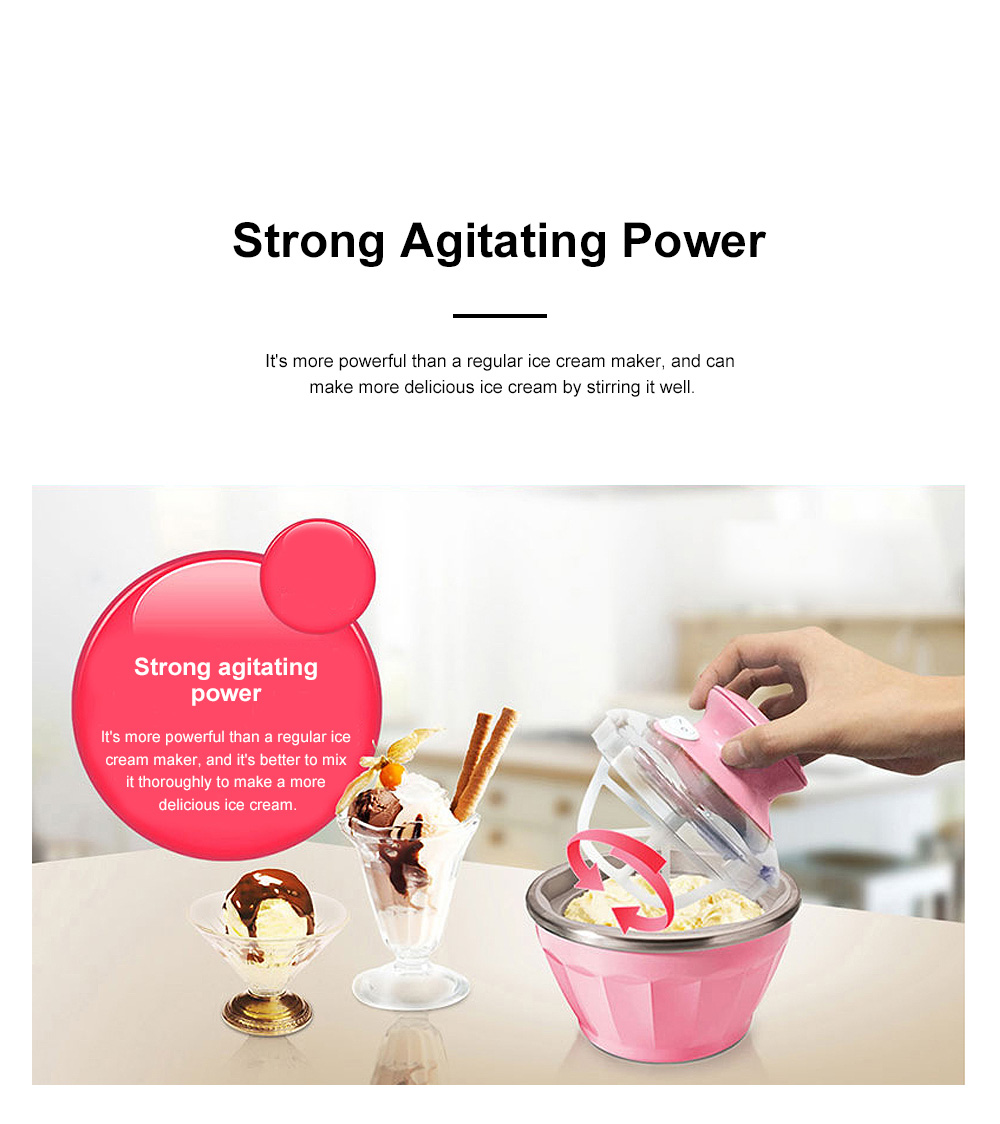Double Bowl Soft Ice Cream Machine Home Fully Automated Ice Cream Maker Ice-cream Machine 7