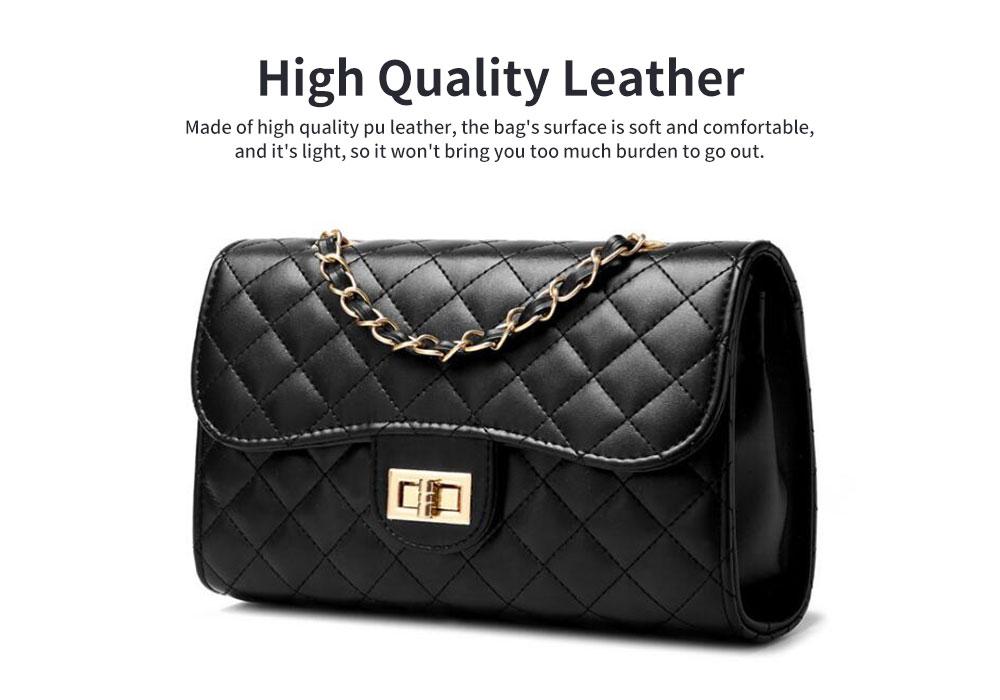 Fashion Small Fragrance PU Rhombic Chain Bag Women's Fashion Shoulder Bag 2