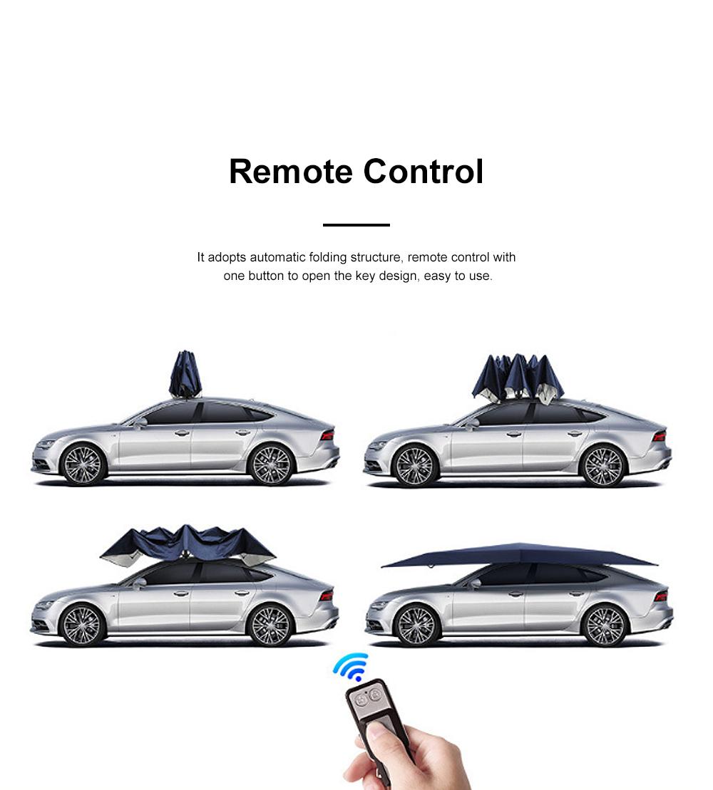 4.5m Car Umbrella Sunshade Sun Heat-proof Lightweight Car Parasol Anti-theft Car Umbrella with Remote Control Function 1