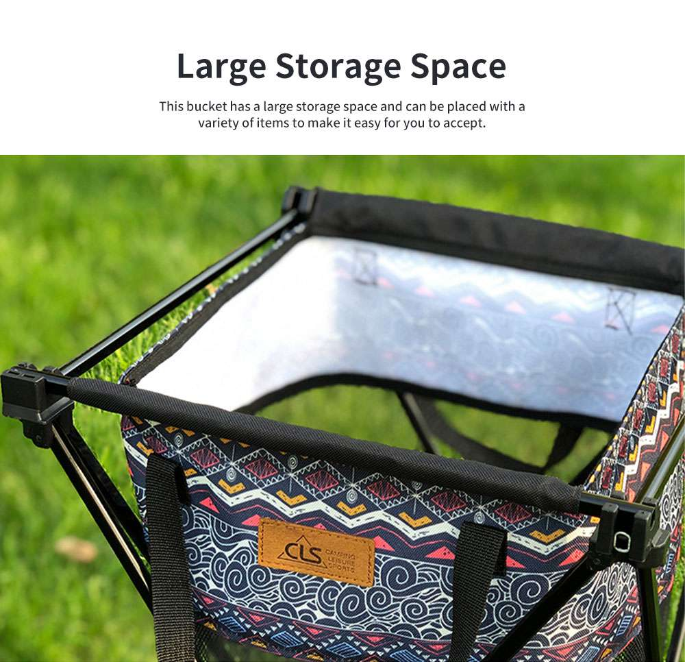 New Outdoor Receiving Basket, Multifunctional Receiving Barrel Dirty Clothes Baskets, Laundry Baskets Storage Bags Camping Garbage Hanging Rack 2