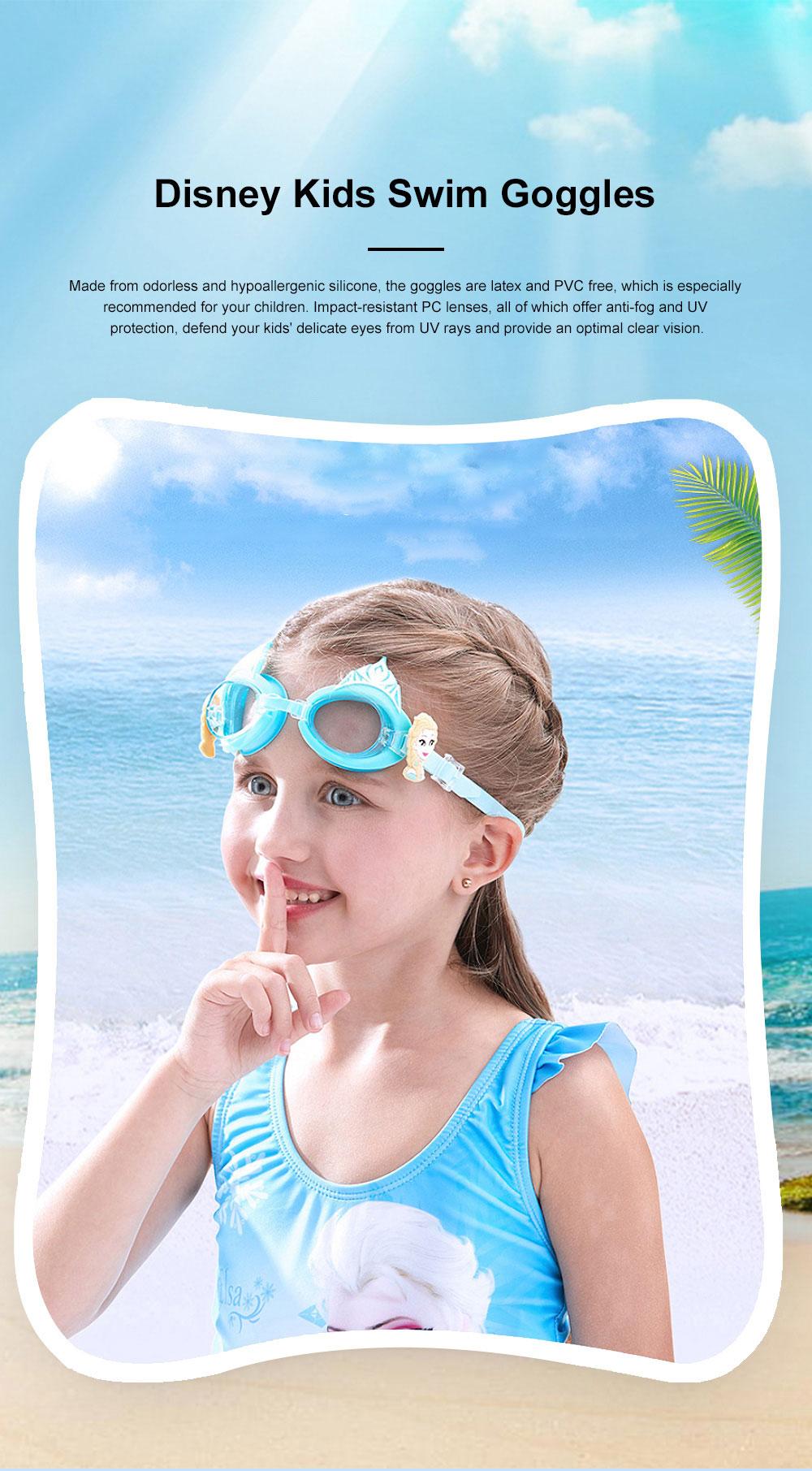 Kids Swim Goggles Cute Swimming Glasses Premium PC lenses Anti-Fog Waterproof UV Protection Swimming Goggles for Kids 0