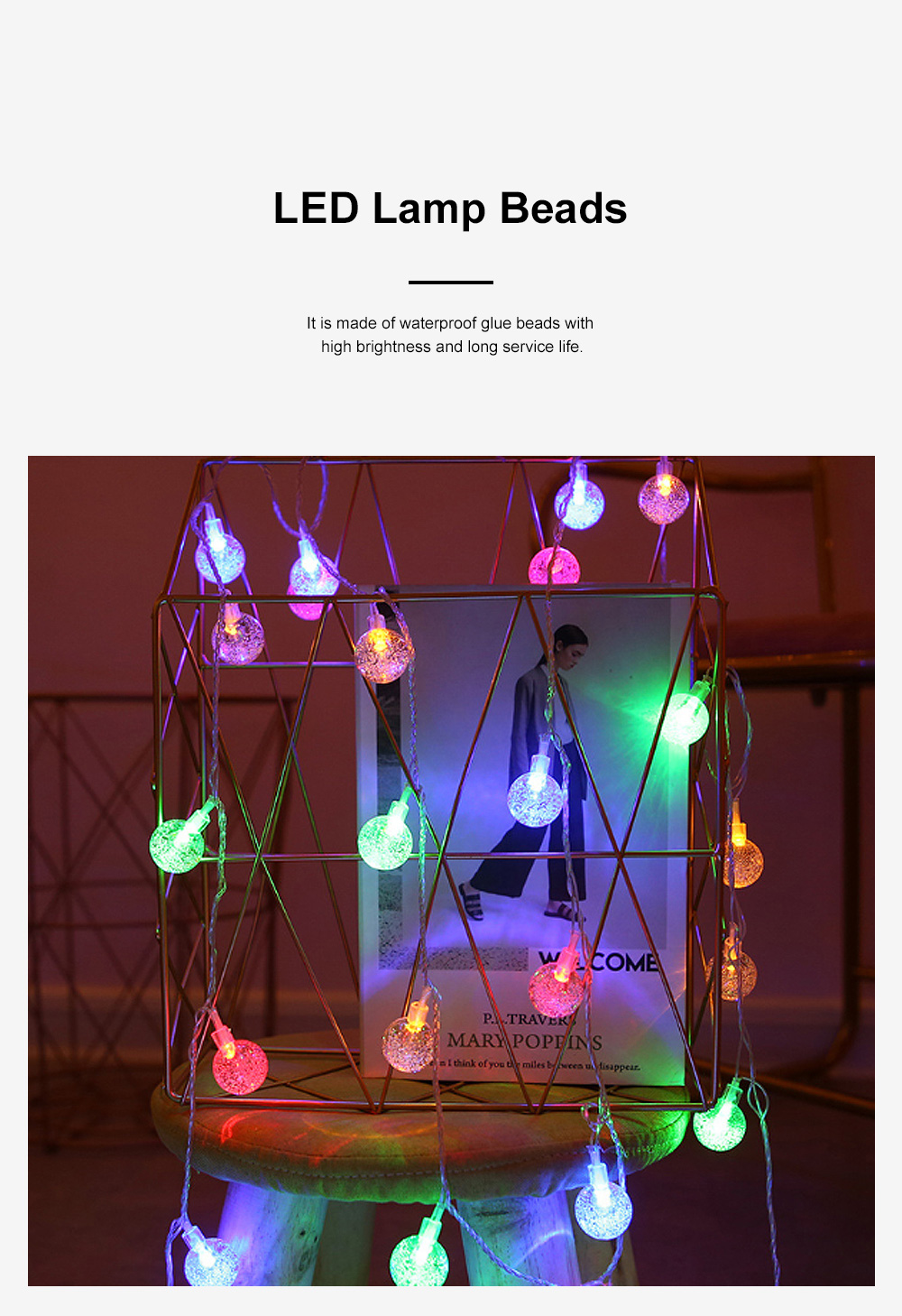 LED Decoration Lamp Bubble Ball Lamp String Ball String Lamp Star Light Bar Decoration Lamp 3
