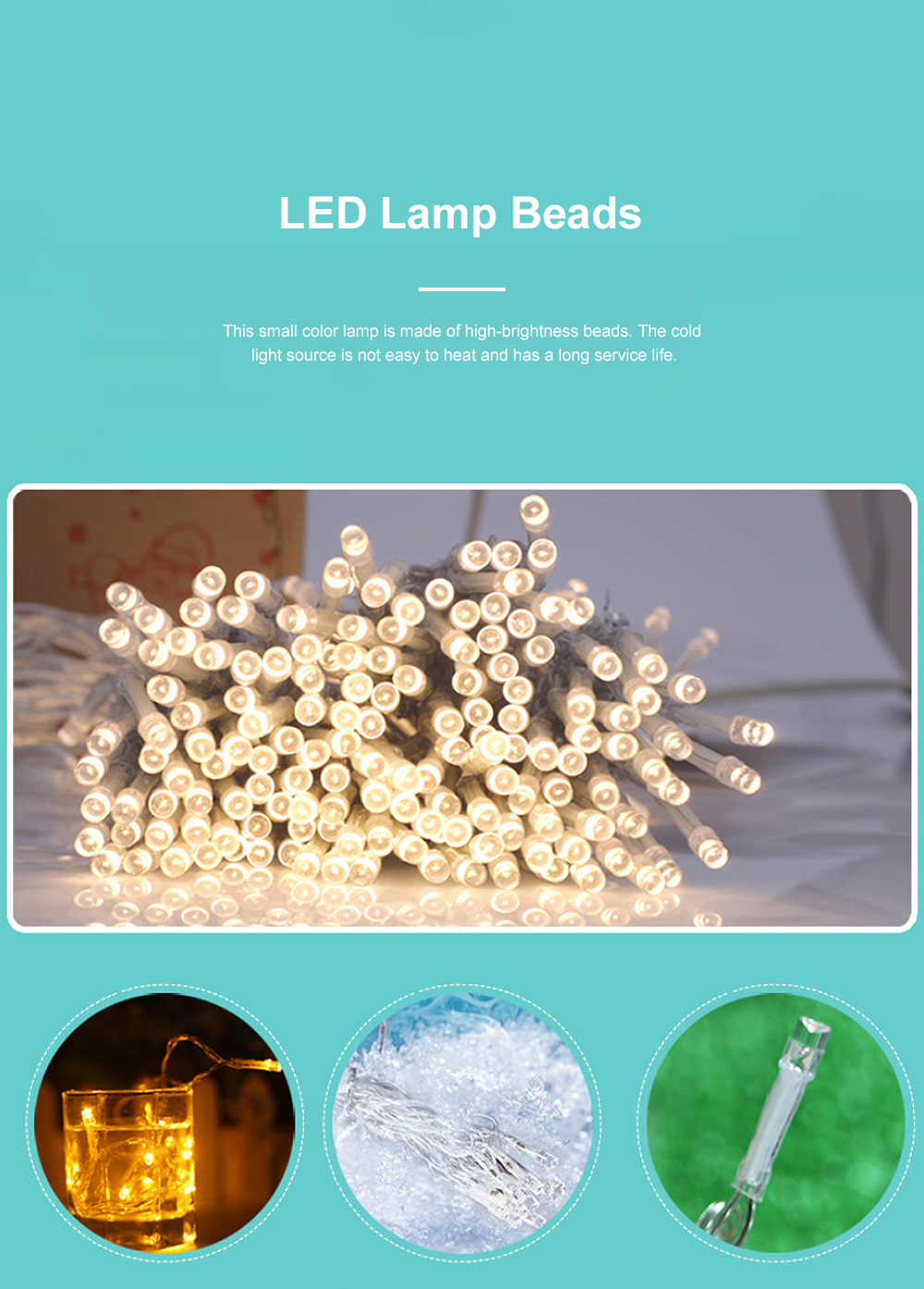 Decorative LED Cotton Ball Lamp String Children's Room Decorations Lights Lovely Fairy Lights Christmas Lights 2
