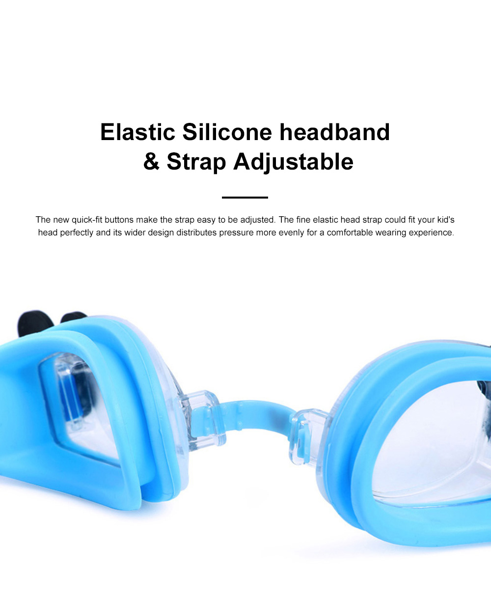 Kids Swim Goggles Cute Swimming Glasses Premium PC lenses Anti-Fog Waterproof UV Protection Swimming Goggles for Kids 1