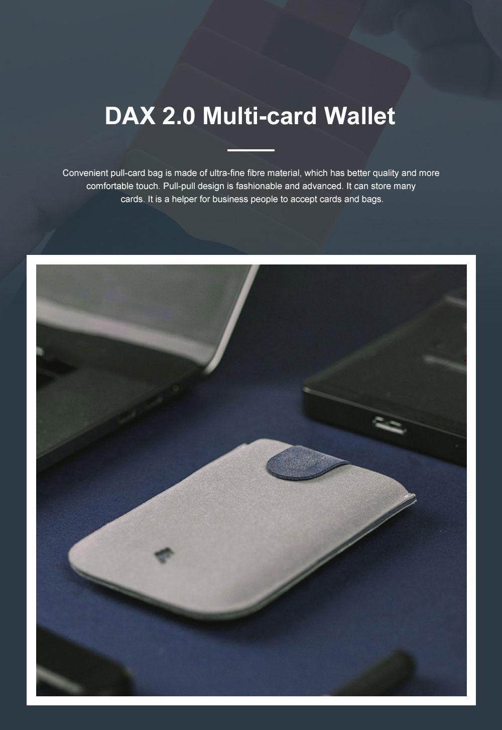 DAX 2.0 Multi-card Wallet Cascading Progressive Fashion Multi-card Wallet Men's and Women's Wallets 0
