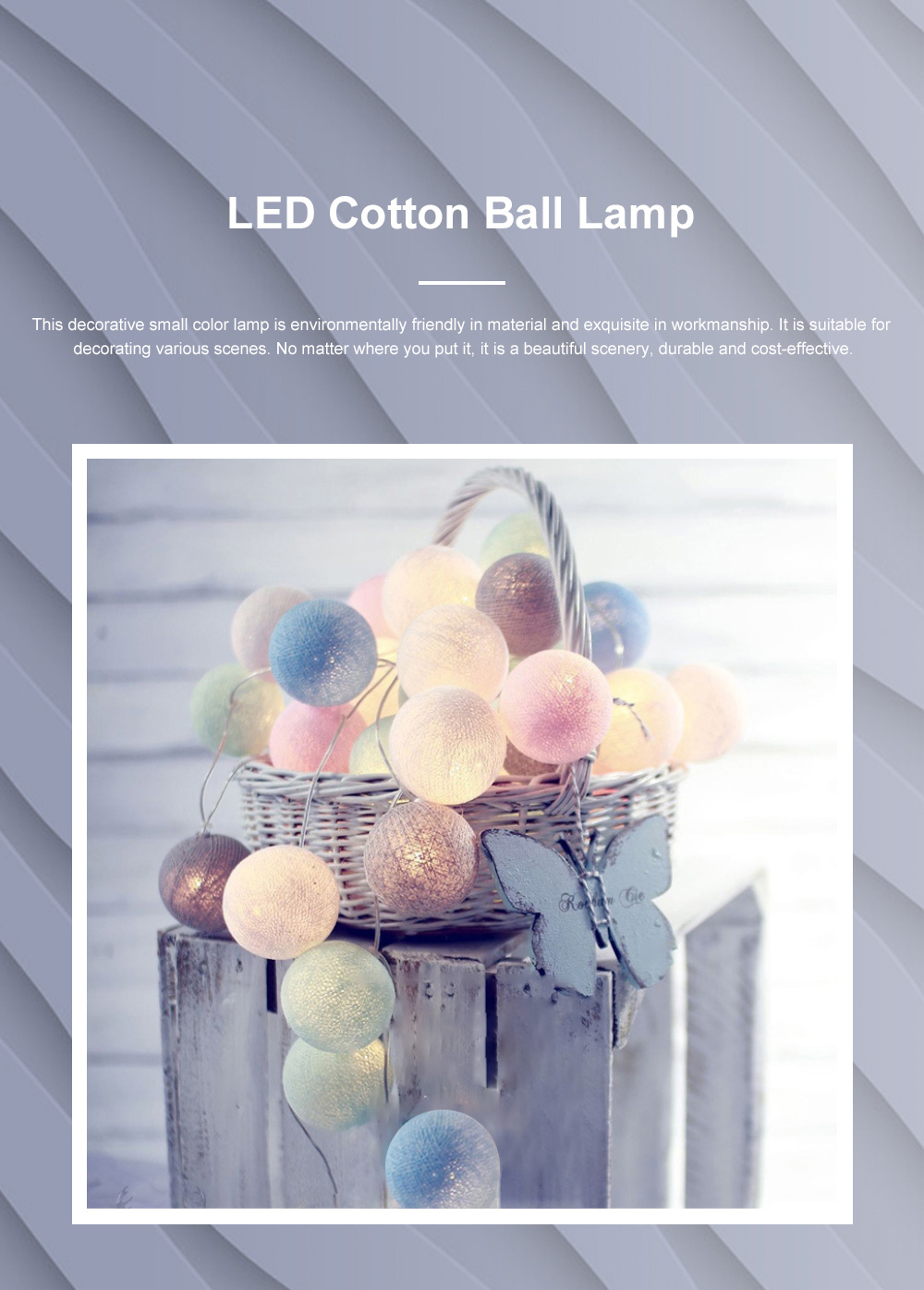 Decorative LED Cotton Ball Lamp String Children's Room Decorations Lights Lovely Fairy Lights Christmas Lights 0