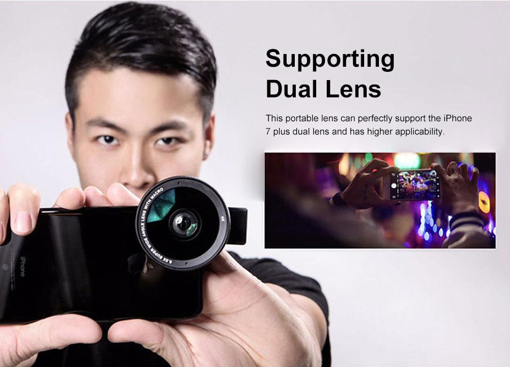 OKSENSE 4K Non-distortion Professional Mobile Phone Camera Lens Special Effect Lens Super Wide-angle Micro-range Camera Lens 1